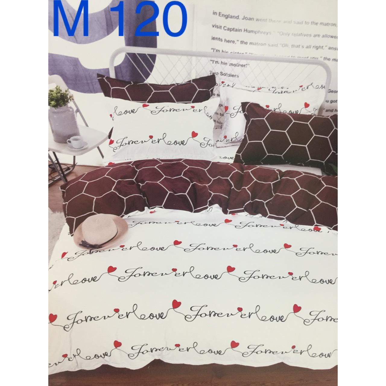 Bộ Chăn Ga Cotton Đũi Hàn Quốc - M120