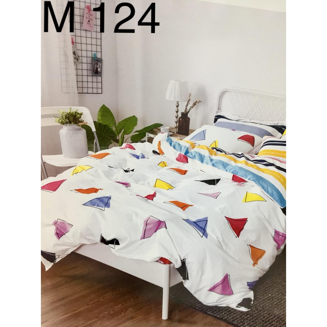 Bộ Chăn Ga Cotton Đũi Hàn Quốc - M124