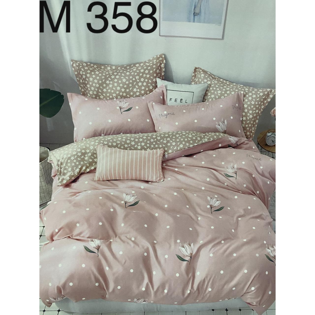 Bộ Chăn Ga Cotton Đũi Loại 1 Hàn Quốc - M358