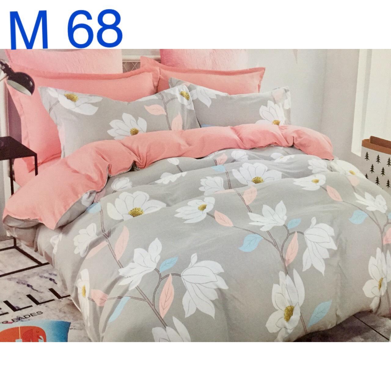 Bộ Chăn Ga Cotton Đũi Loại 1 Hàn Quốc - M68