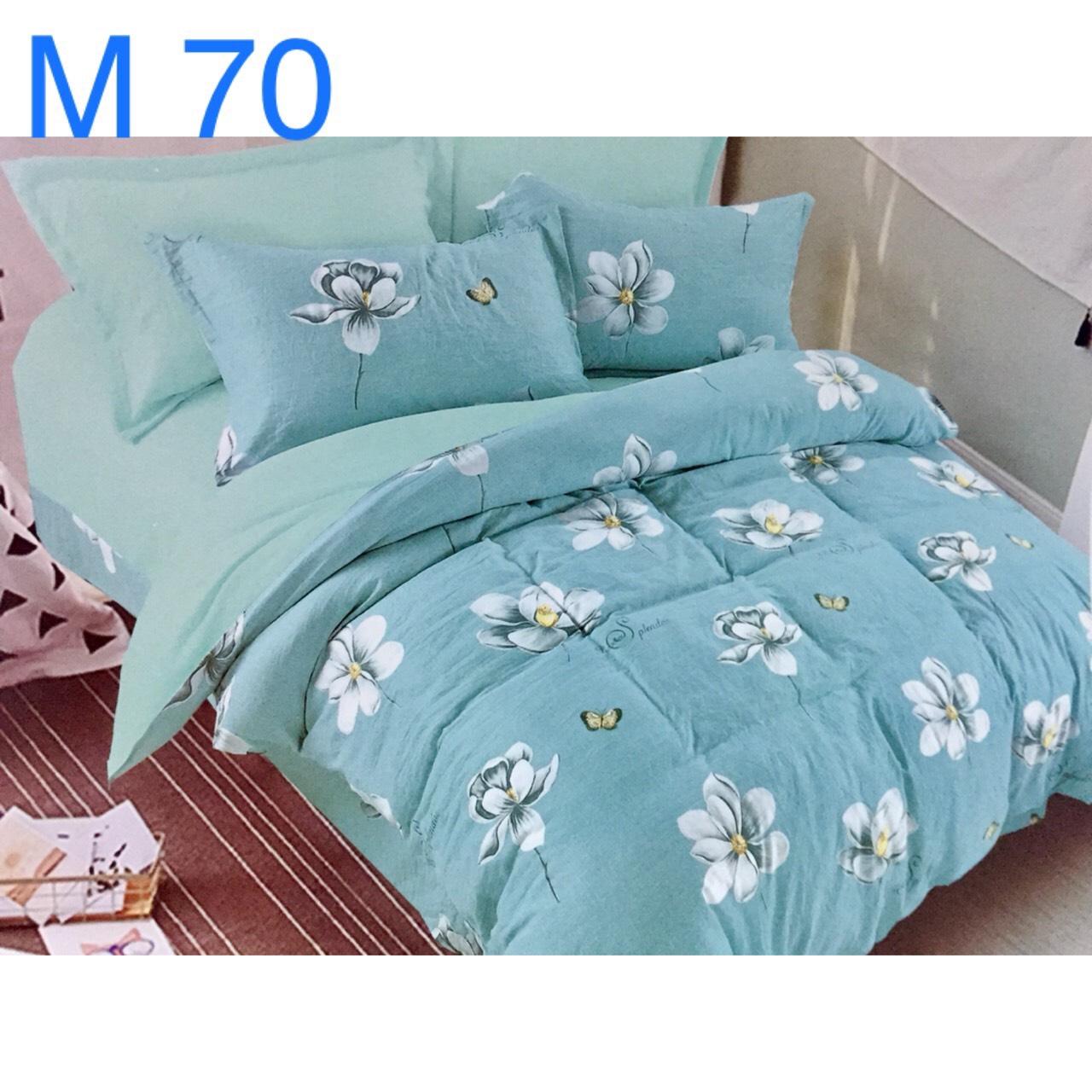 Bộ Chăn Ga Cotton Đũi Loại 1 Hàn Quốc - M70