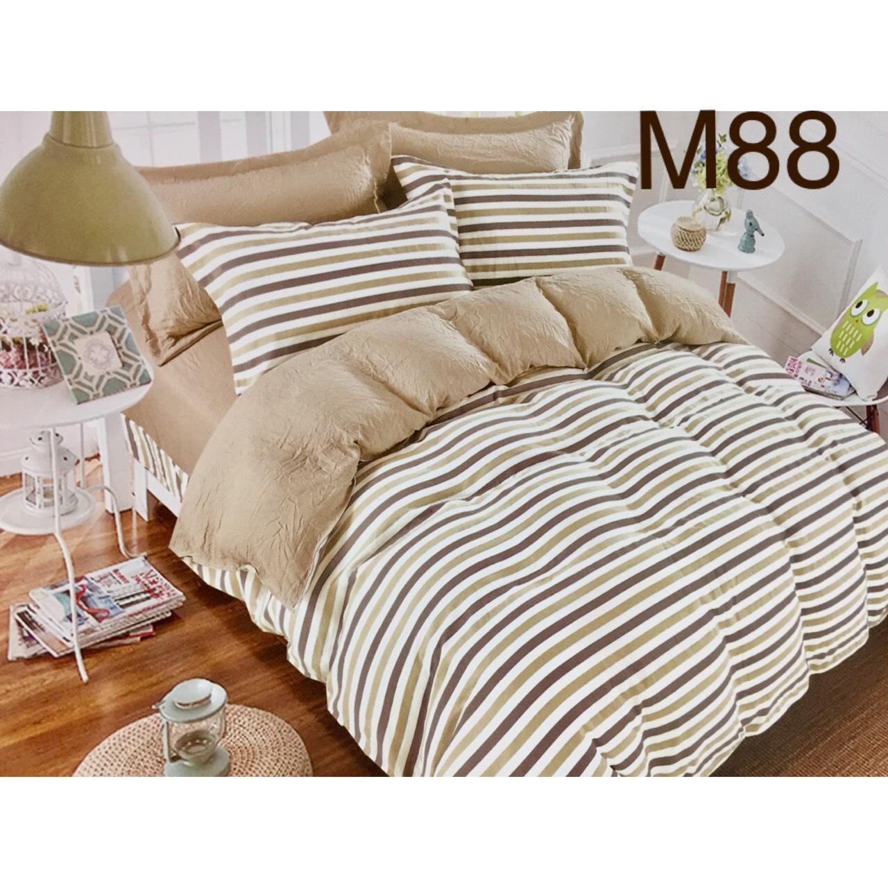 Bộ Chăn Ga Cotton Đũi Loại 1 Hàn Quốc - M88
