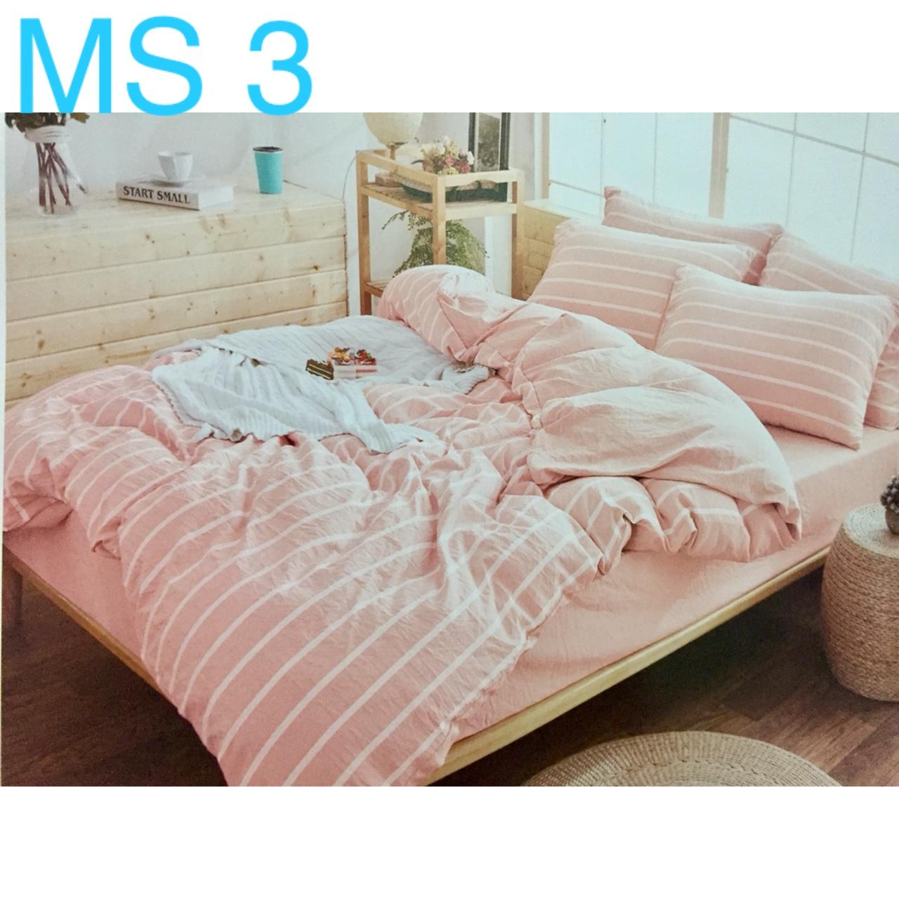 Bộ Chăn Ga Cotton Đũi Loại 2 Hàn Quốc - MS3