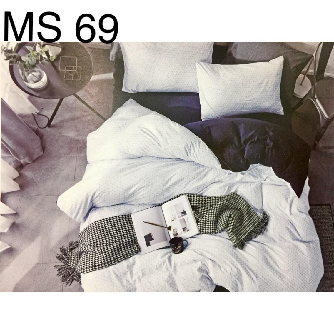 Bộ Chăn Ga Cotton Đũi Loại 2 Hàn Quốc - MS69