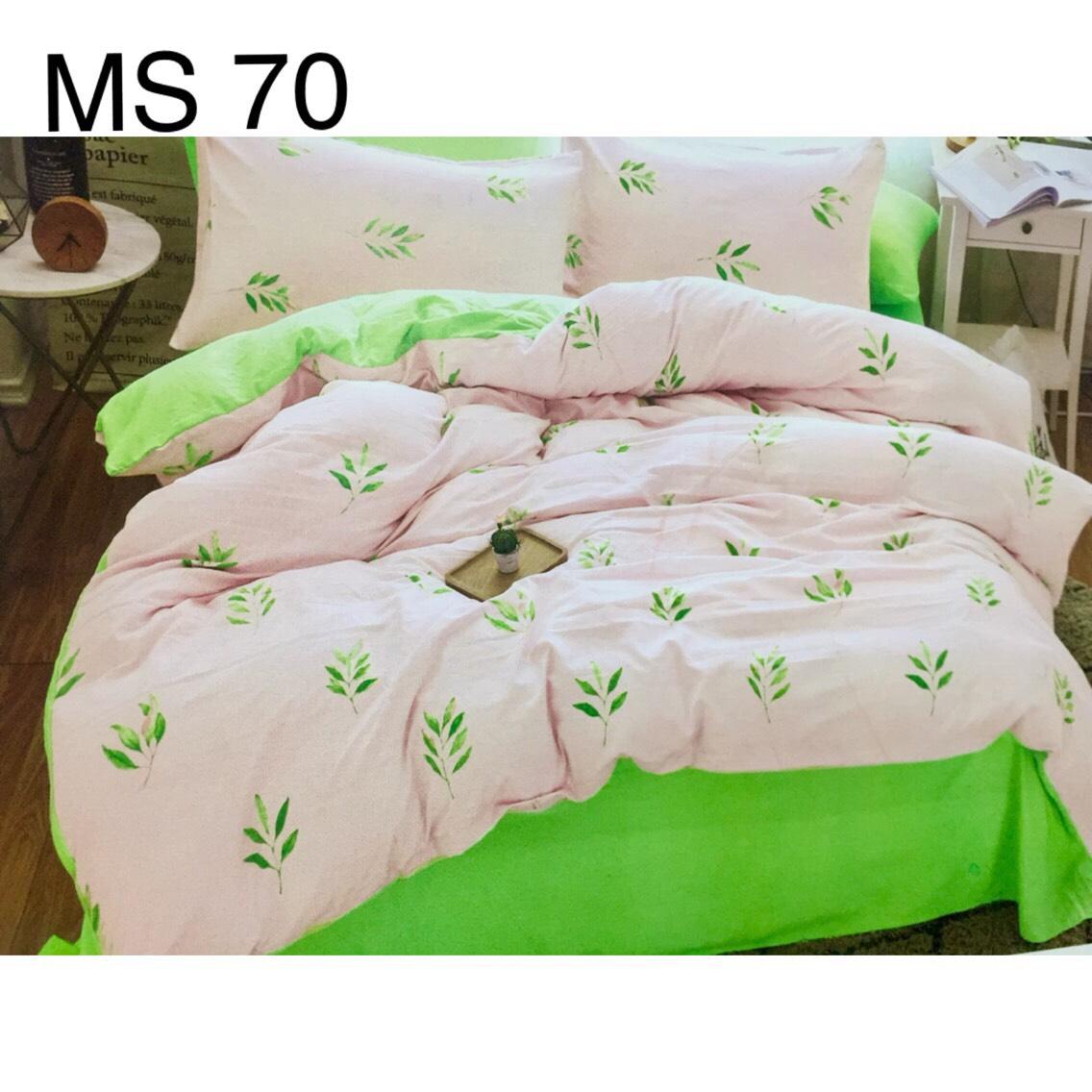 Bộ Chăn Ga Cotton Đũi Loại 2 Hàn Quốc - MS70