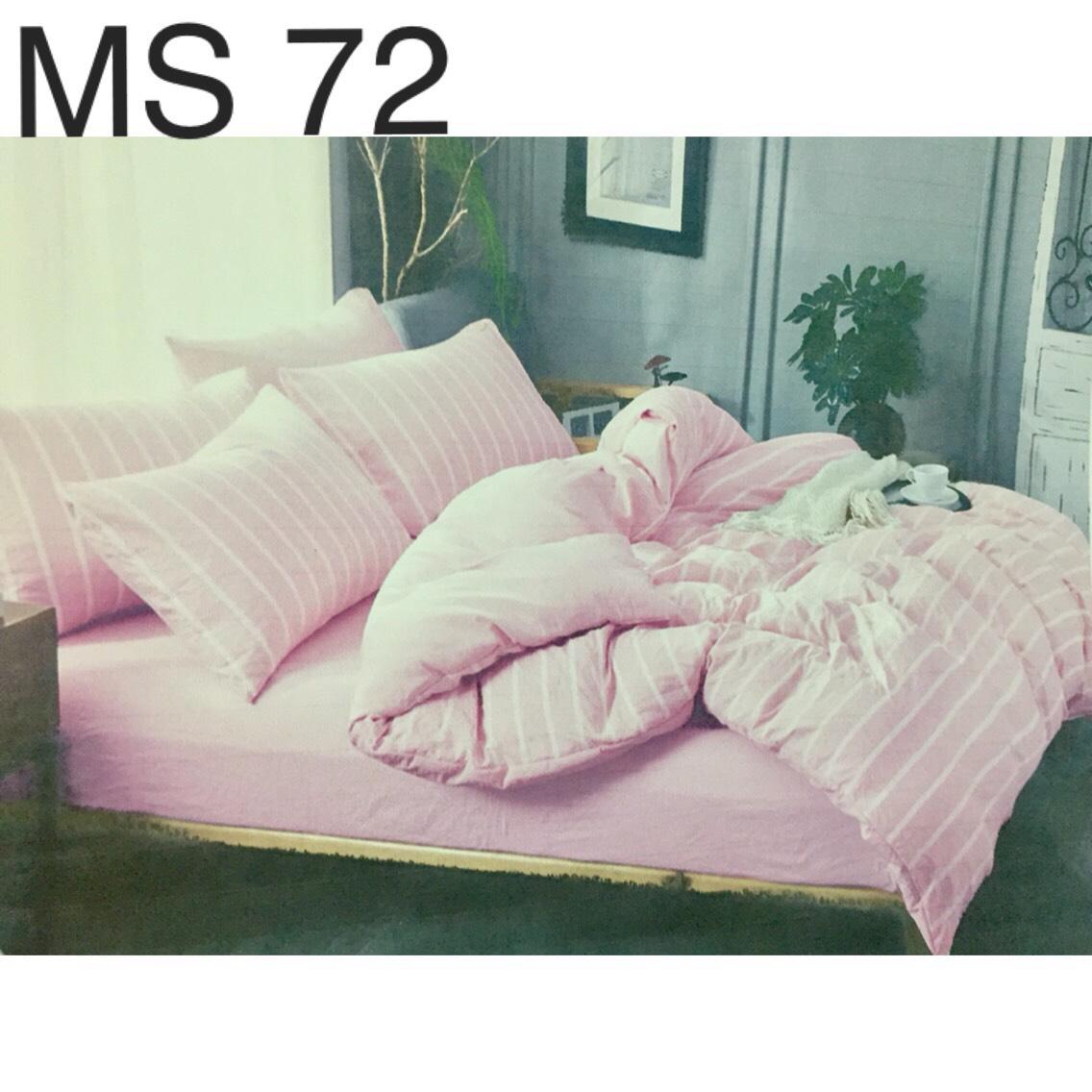 Bộ Chăn Ga Cotton Đũi Loại 2 Hàn Quốc - MS72