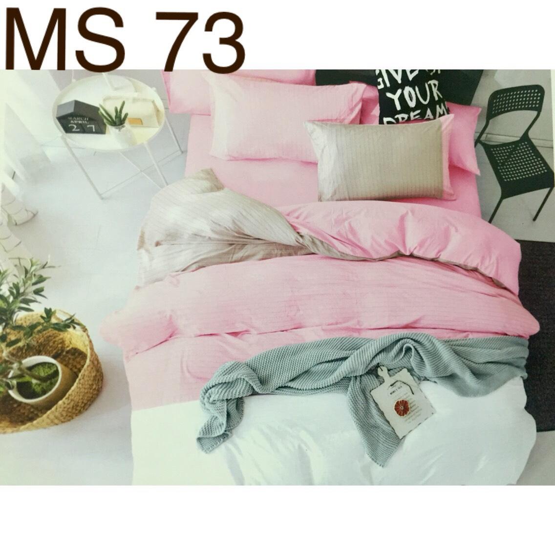 Bộ Chăn Ga Cotton Đũi Loại 2 Hàn Quốc - MS73