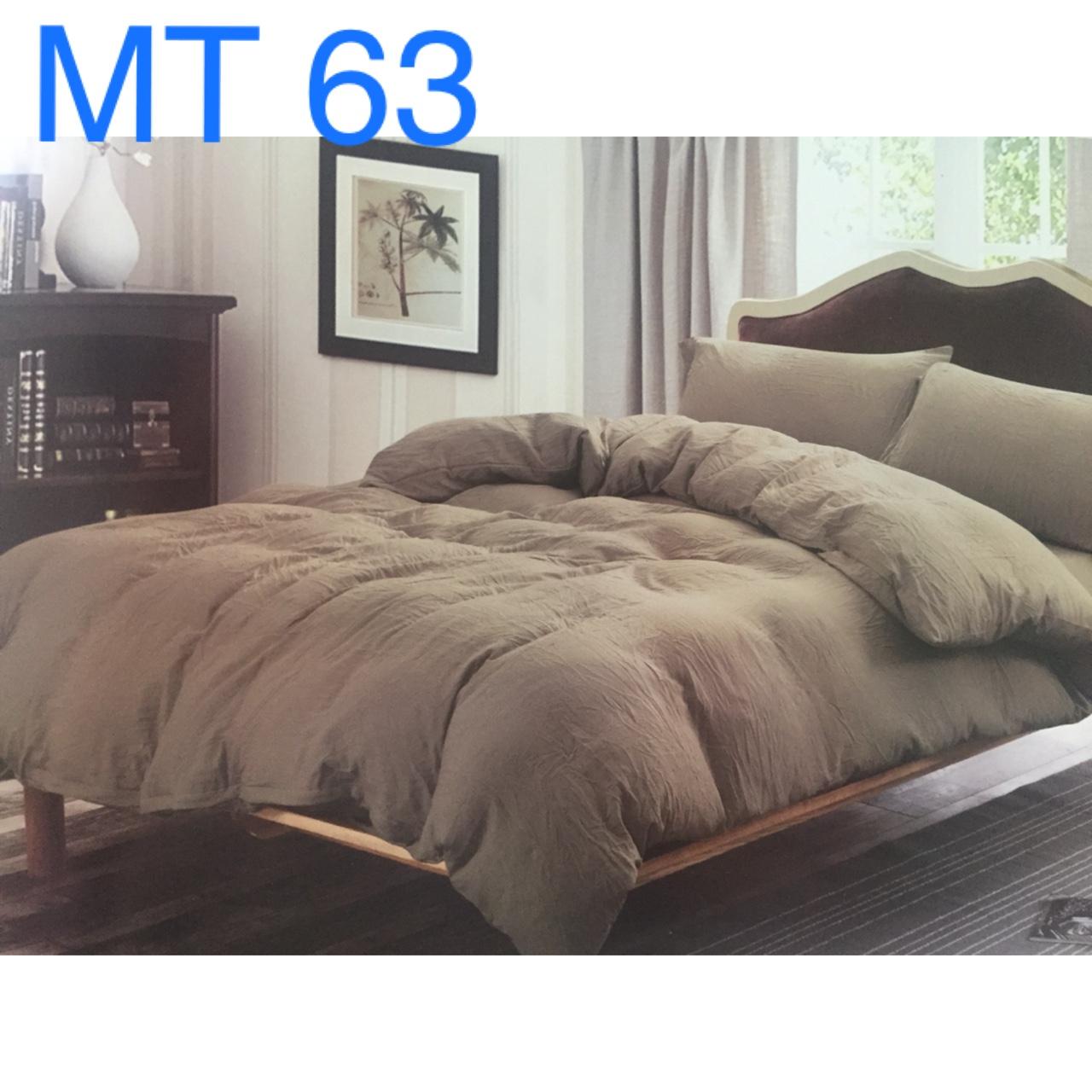 Bộ chăn ga màu trơn Hàn Quốc - MT63