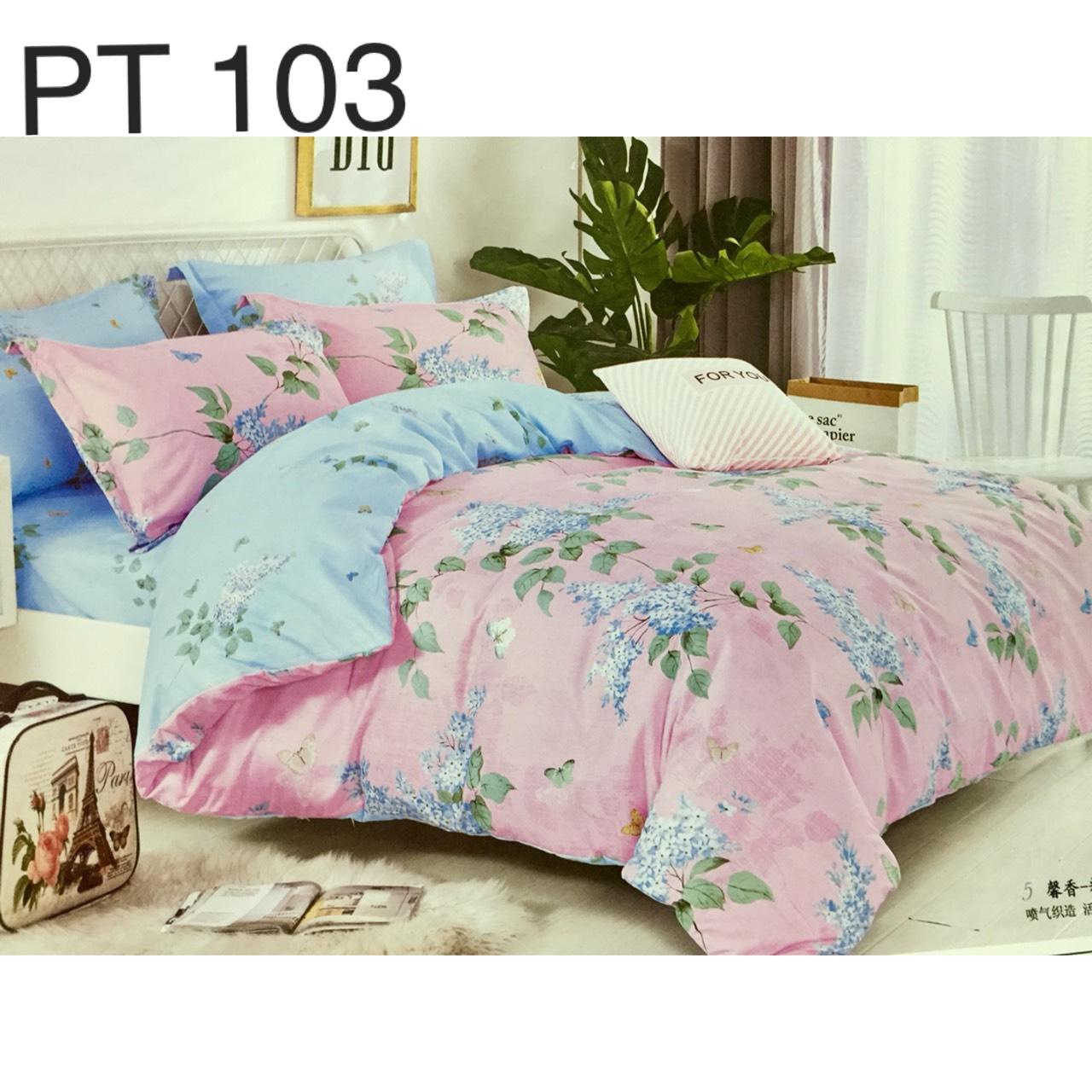 Bộ Chăn Ga Phủ Cotton Hàn Quốc - PT103
