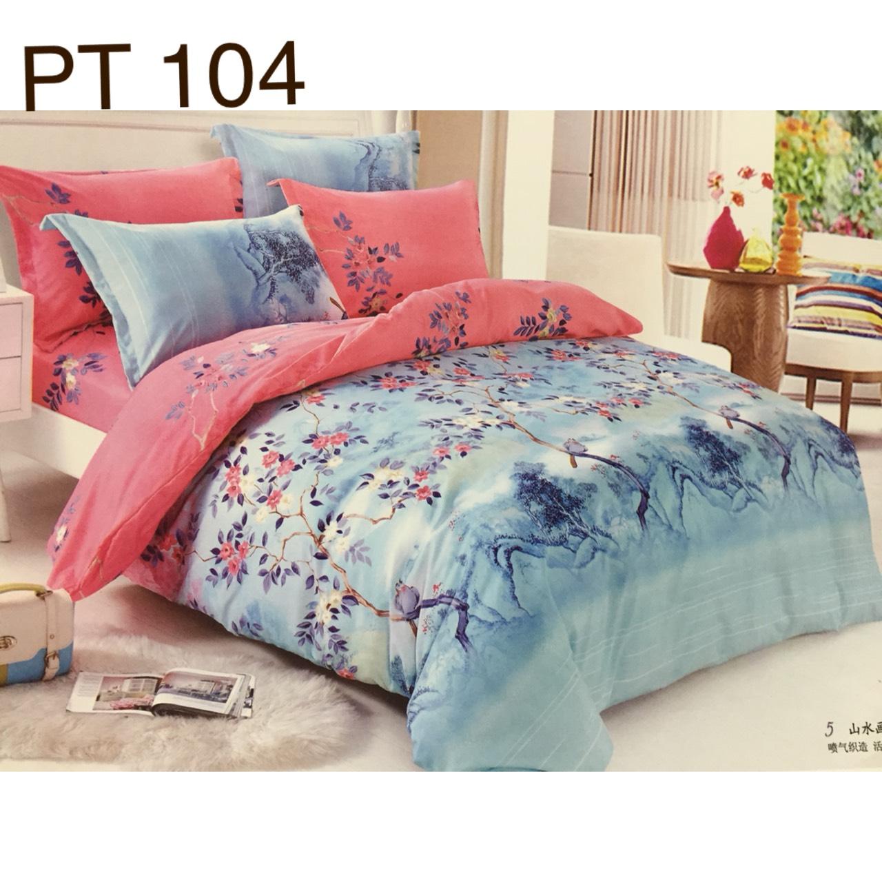 Bộ Chăn Ga Phủ Cotton Hàn Quốc - PT104