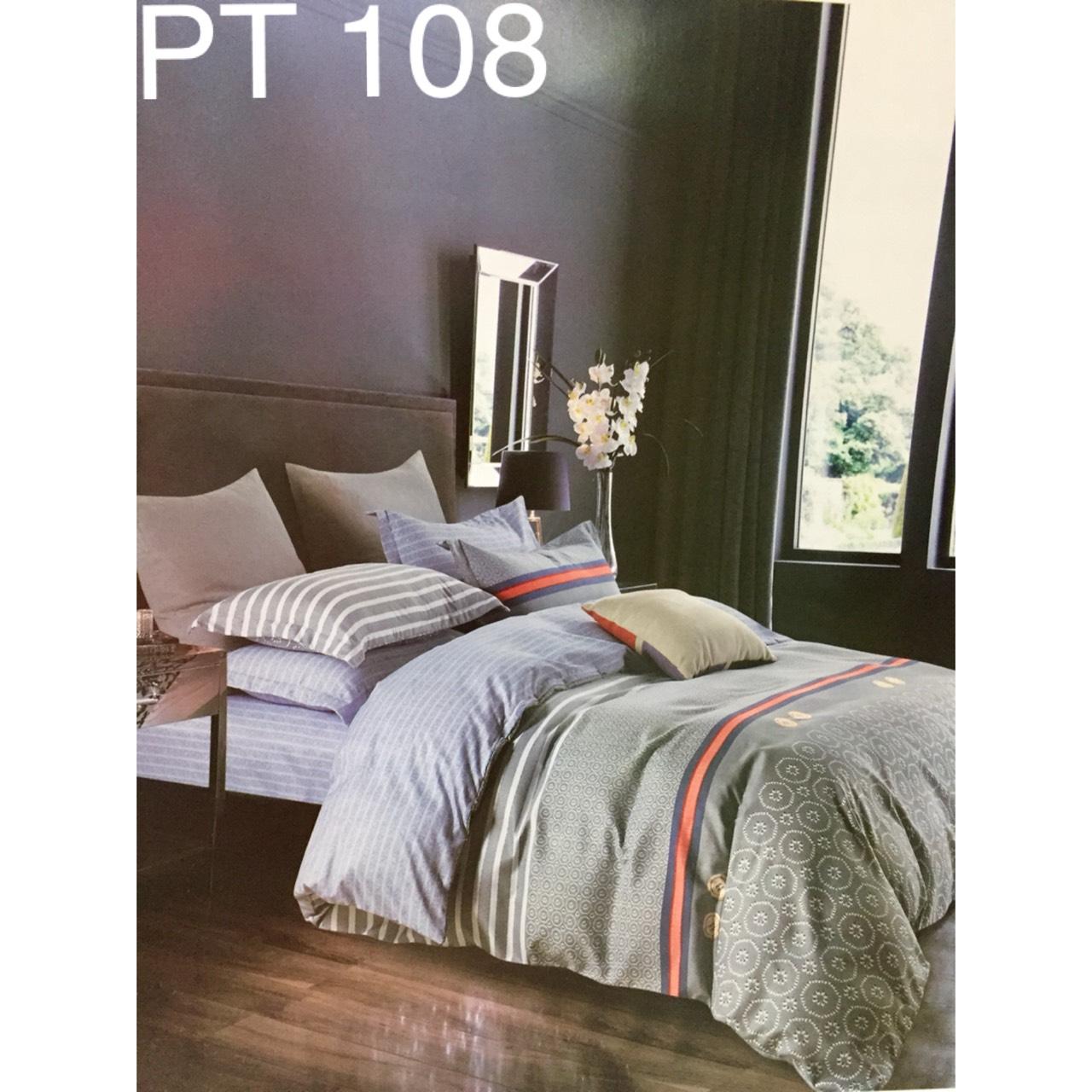 Bộ Chăn Ga Phủ Cotton Hàn Quốc - PT108