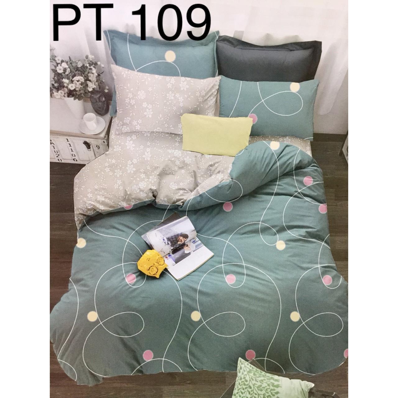 Bộ Chăn Ga Phủ Cotton Hàn Quốc - PT109