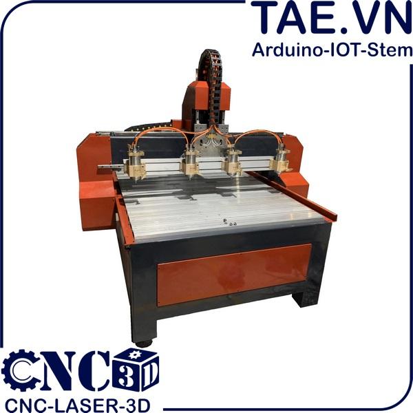 Máy CNC Gỗ 1325 4 Đầu