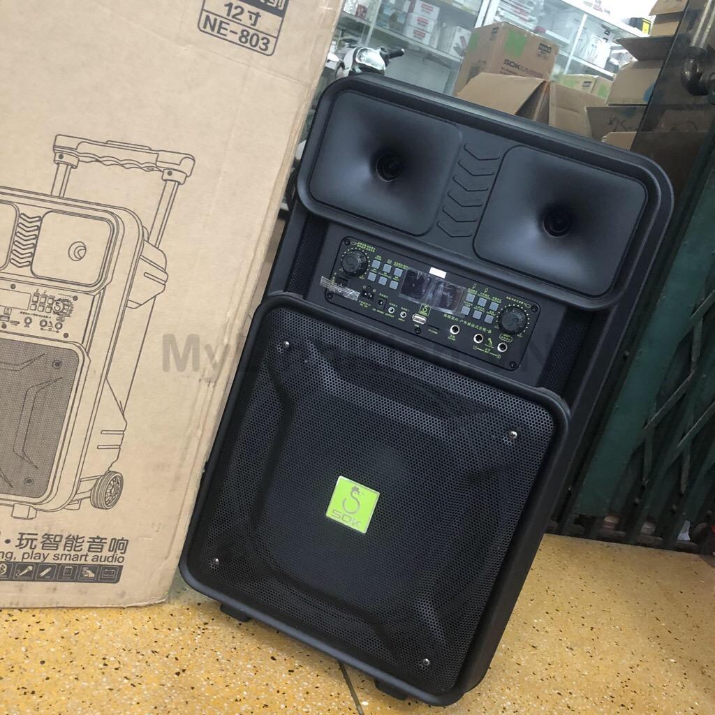 Loa kéo di động SOK NE-802 (10 inch , 2 mic , 120W) giá sỉ và lẻ rẻ nhất