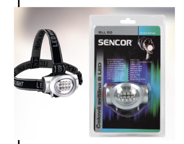 Đèn pin đội đầu 6 bóng dẹp Sencor chính hãng giá sỉ và lẻ rẻ nhất