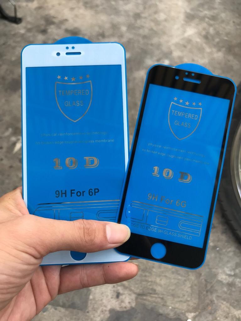 Kính TRAY 10D iPhone 6 MÀU ĐEN full màn hình cường lực (Kính CL) giá sỉ và lẻ rẻ nhất