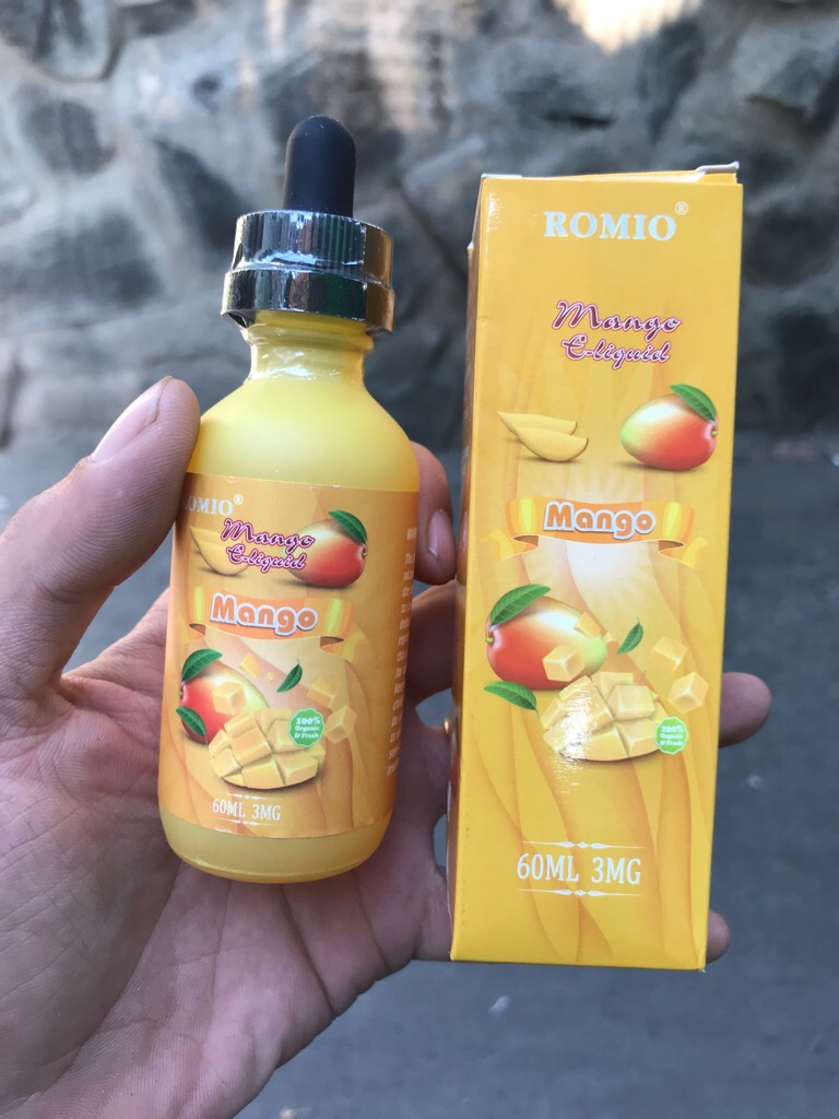 Tinh dầu mỹ USA Xoài ROMIO Mango 60ml chính hãng siêu thơm xoài chín max ghiền (ở đâu bán rẻ - call để có giá rẻ hơn, mua 3 chai trở lên call giá cực tốt) giá sỉ và lẻ rẻ nhất