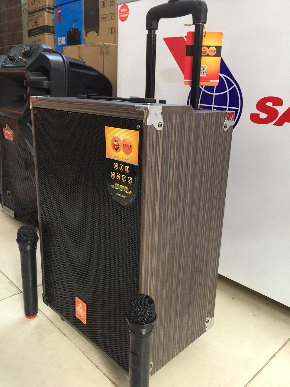 Loa kéo Q12 2 mic thùng gỗ siêu hay giá sỉ và lẻ rẻ nhất