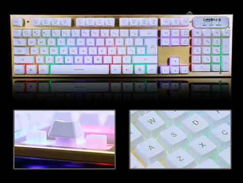 Bàn phím chuyên game led 7 màu LIMEME TX30 đế nhôm giá sỉ và lẻ rẻ nhất