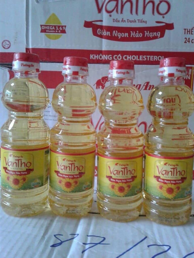 Thùng 24 Chai dầu ăn Tường An (1 chai 400ml) giá sỉ và lẻ rẻ nhất