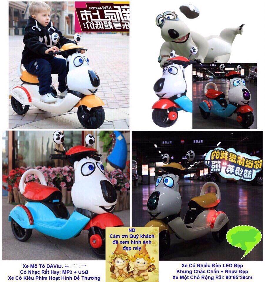 Xe điện mô tô Kiểu phim hoạt hình dễ thương (call trước 2 tiếng) giá sỉ và lẻ rẻ nhất