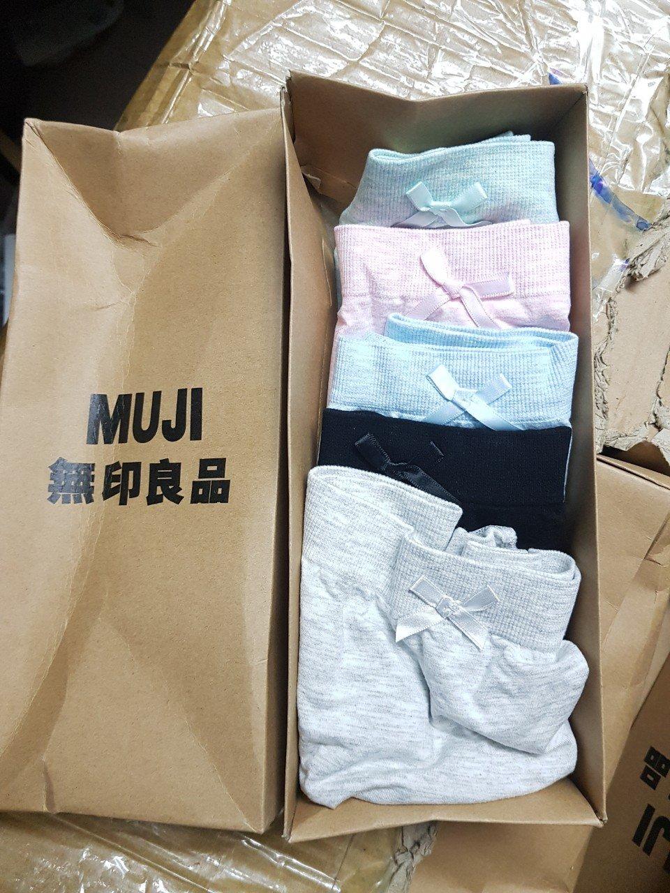 Combo 5 quần sịp Muji nữ cao cấp full box giá sỉ và lẻ rẻ nhất