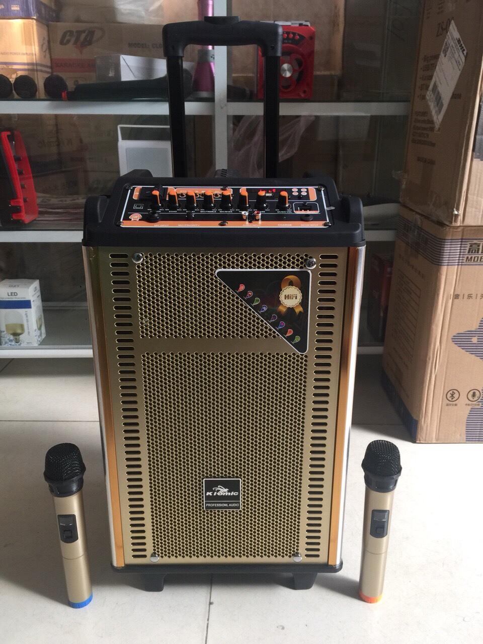 Loa kéo loại trung cao cấp KIOMIC K158 2 mic ko dây siêu hay giá sỉ và lẻ rẻ nhất