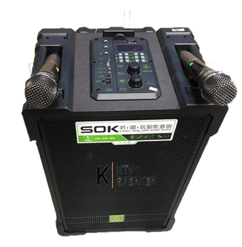 Loa kéo di động SOK NE-703 (12 inch, 2 mic, 210W) bass 30 va bass 10 giá sỉ và lẻ rẻ nhất