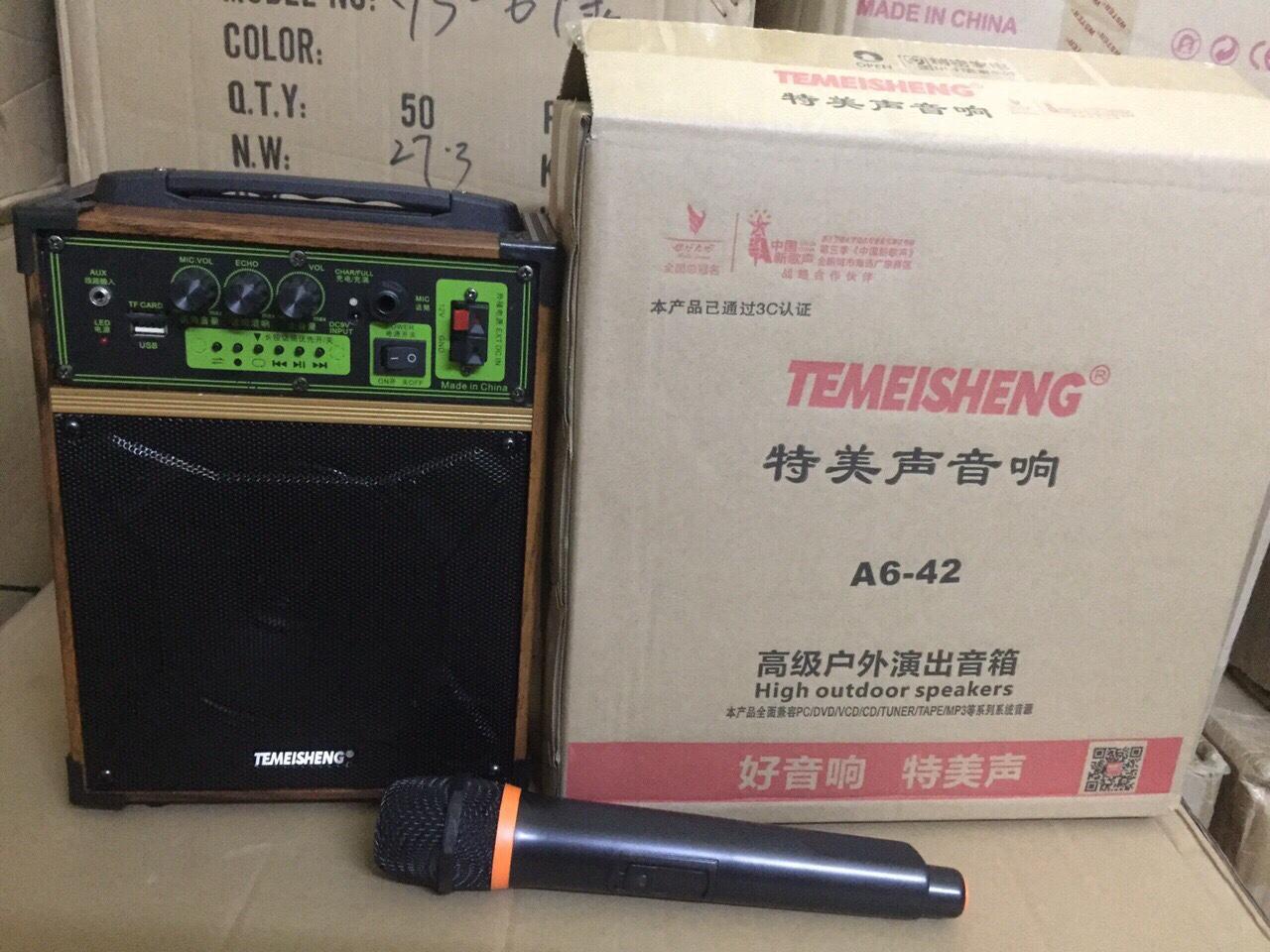 Loa kéo Temeisheng A6-42 1 micro hát siêu hay giá sỉ và lẻ rẻ nhất