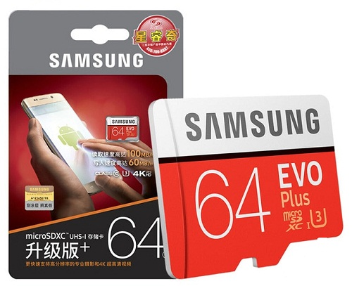 Thẻ nhớ micro SD samsung Evo plus 64GB 100Mb/s 4k vieo (new version)