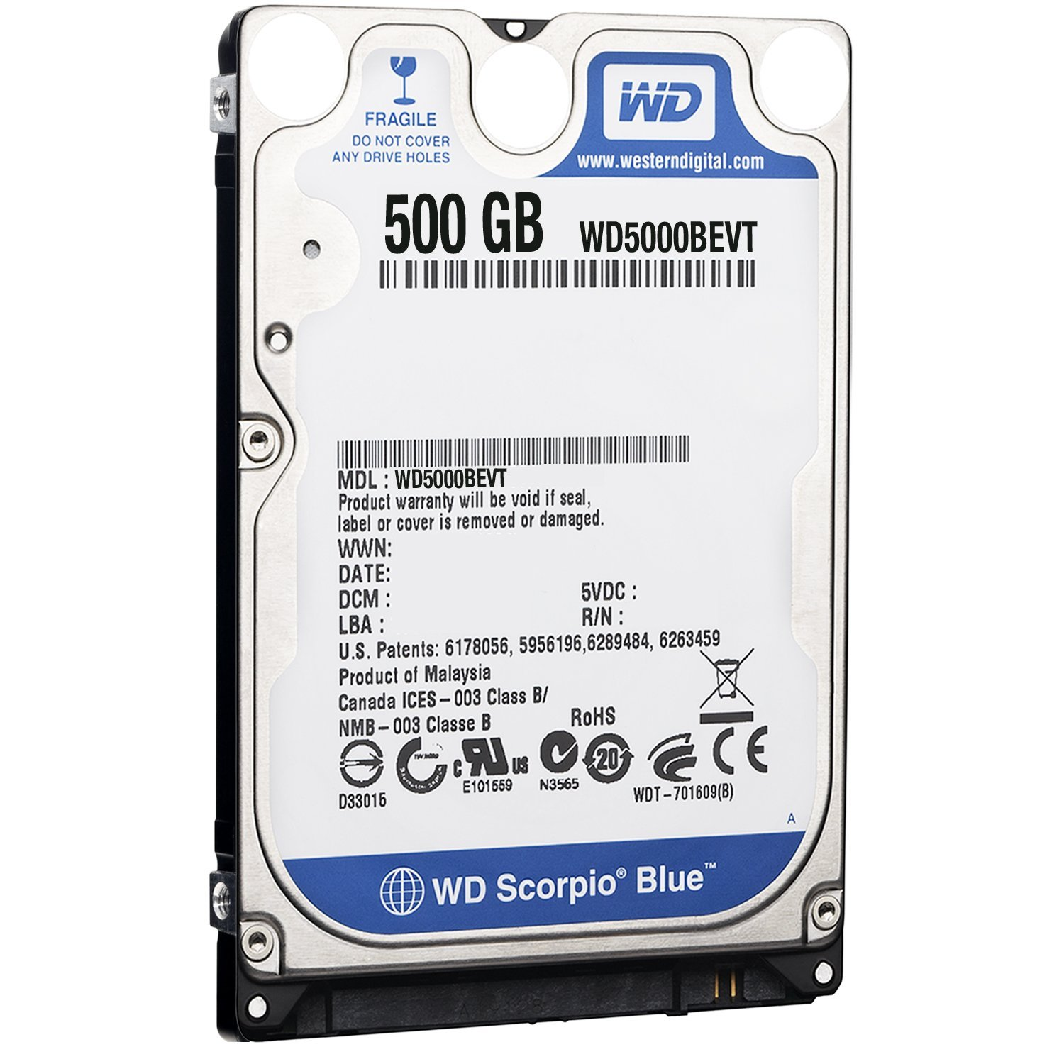 Ổ cứng HDD Laptop Western Digital 500GB/7200