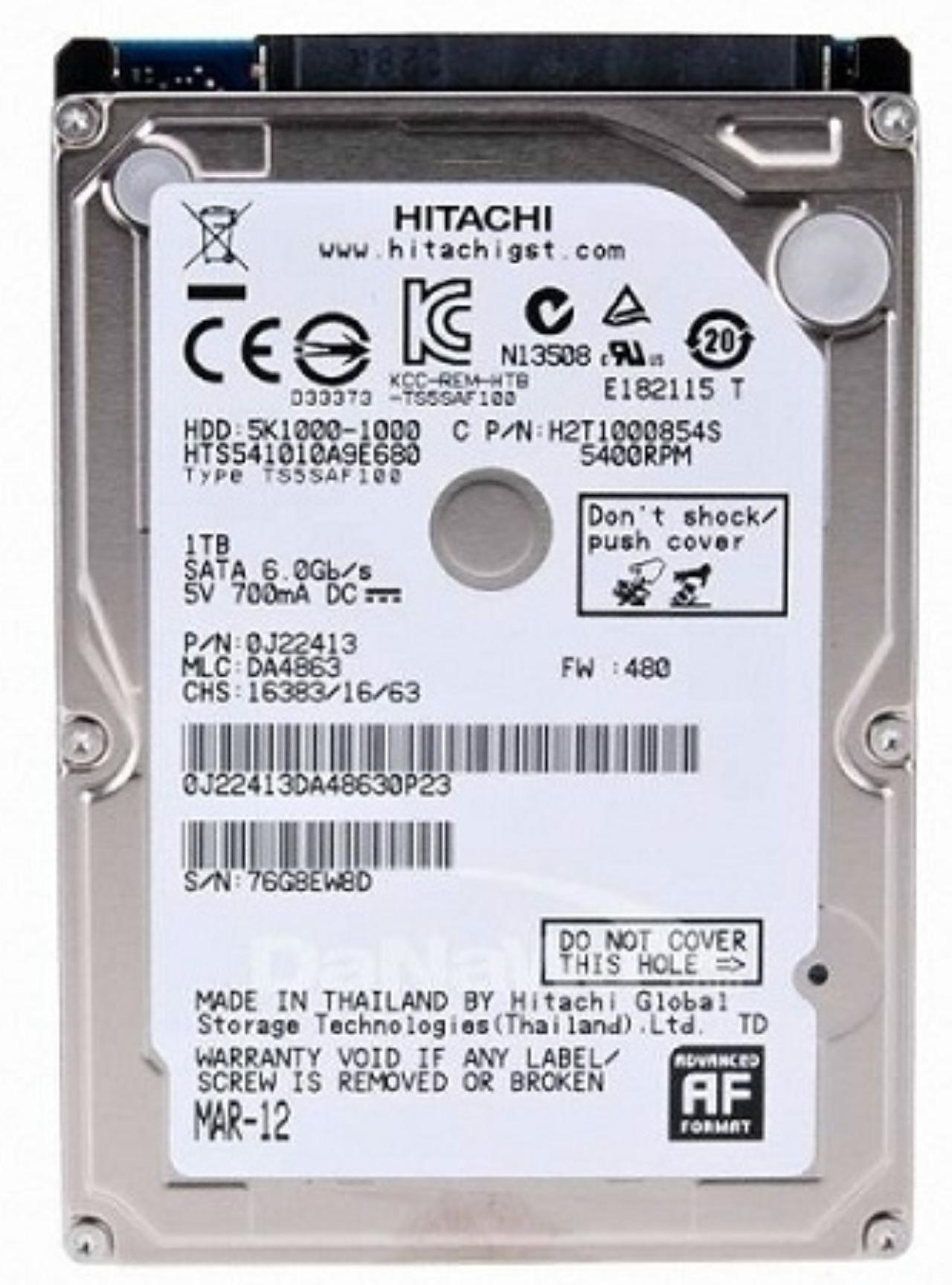 Ổ cứng HDD Laptop Hitachi 1TB/5400