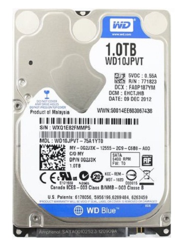 Ổ cứng HDD laptop Western 1TB/5400