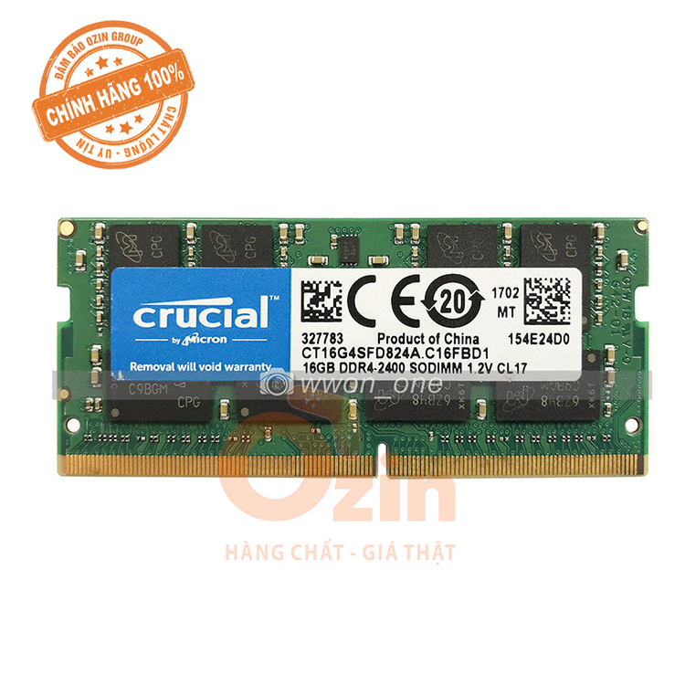 Ram laptop Crucial DDR4 16GB bus 2133/2400/2666MHz