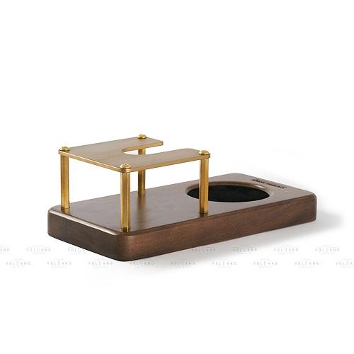 Giá đỡ tamper nén cà phê espresso đế gỗ khung sắt Cafede Kona