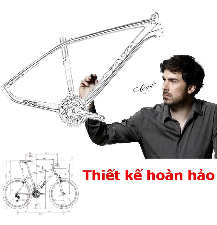 Xe đạp địa hình Sava Key380s thiết kế hoàn hảo