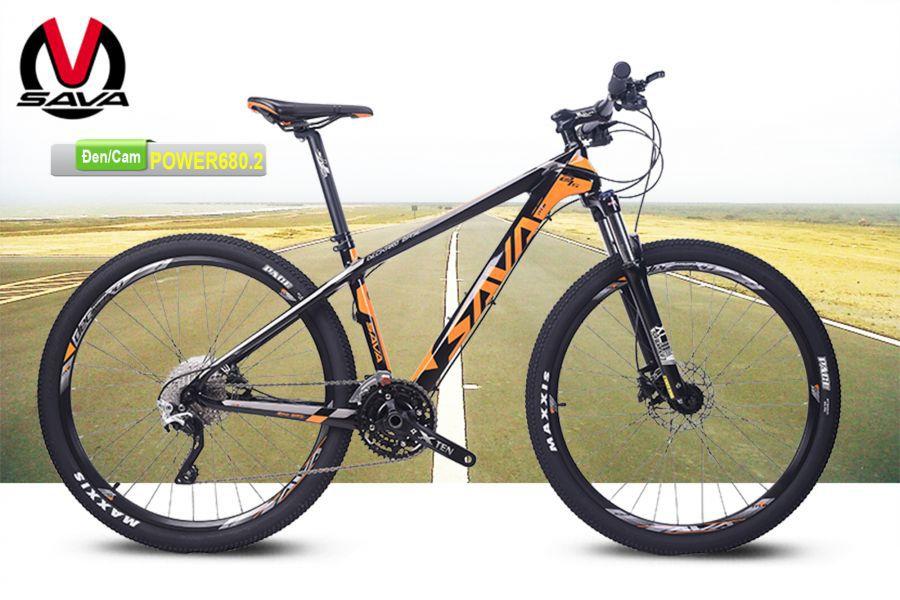 Xe đạp địa hình Sava Power680.2 đen cam