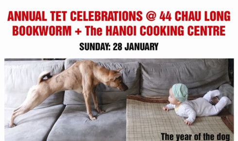 Annual Tet Celebrations in Bookworm Hanoi 28th January 2018
