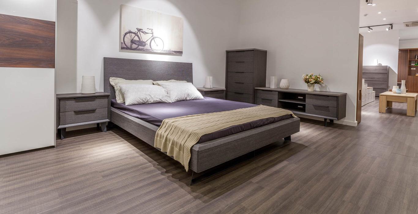 Mẫu giường thiết kế trọn bộ HP26