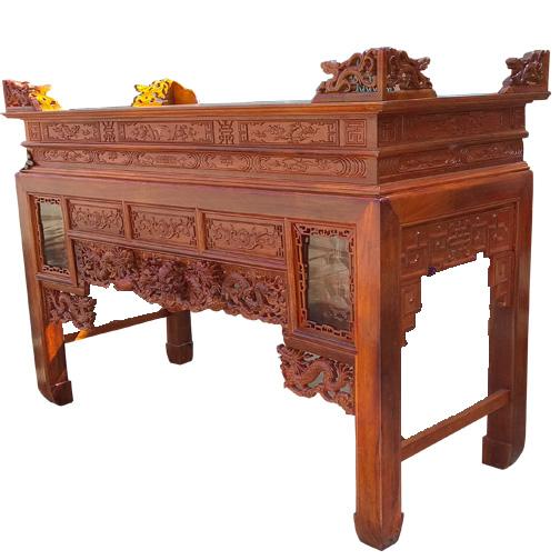 Mẫu Bàn thờ gia tiên gỗ Gụ: Ngũ Long HP03