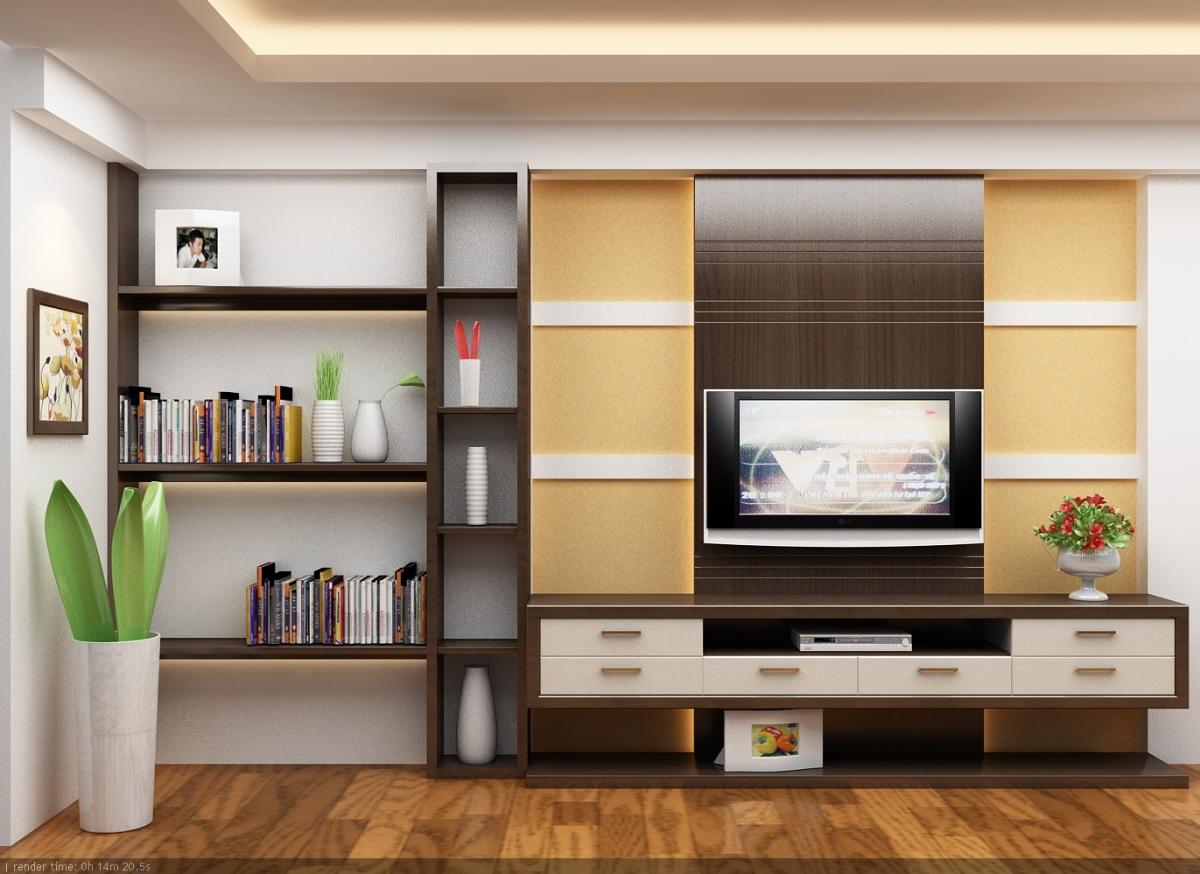 Hệ kệ tivi ốp tường HP01