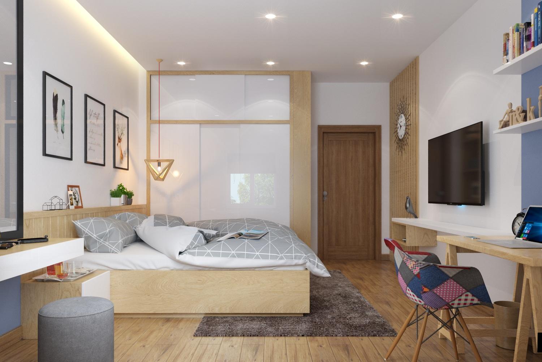Thiết kế trọn gói căn hộ nhà phố khu Mỹ Tân bởi Nội thất Hoa Phương