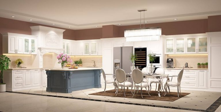 Mẫu bếp Tân Cổ Điển HP02