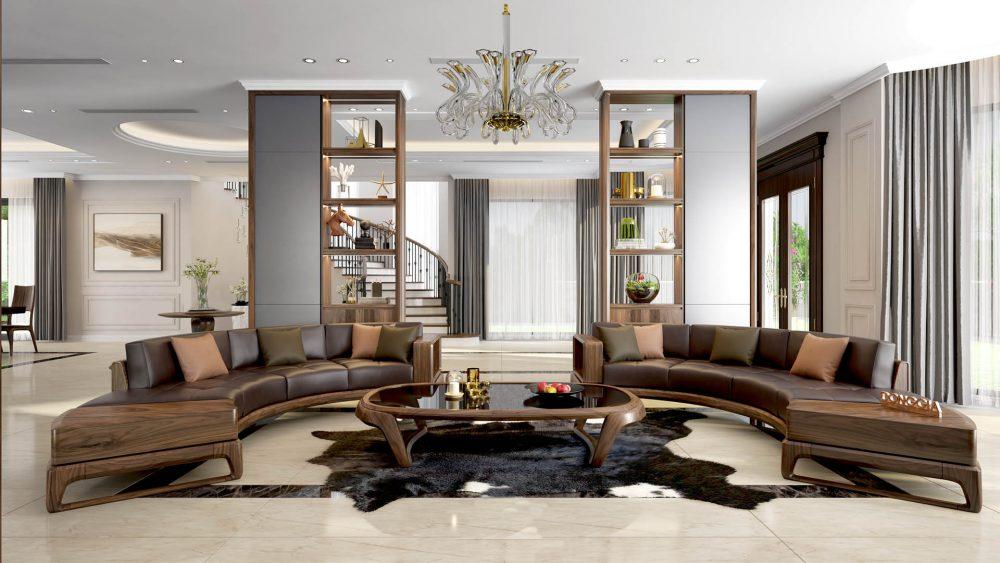 Bộ Sofa gỗ óc chó HP21