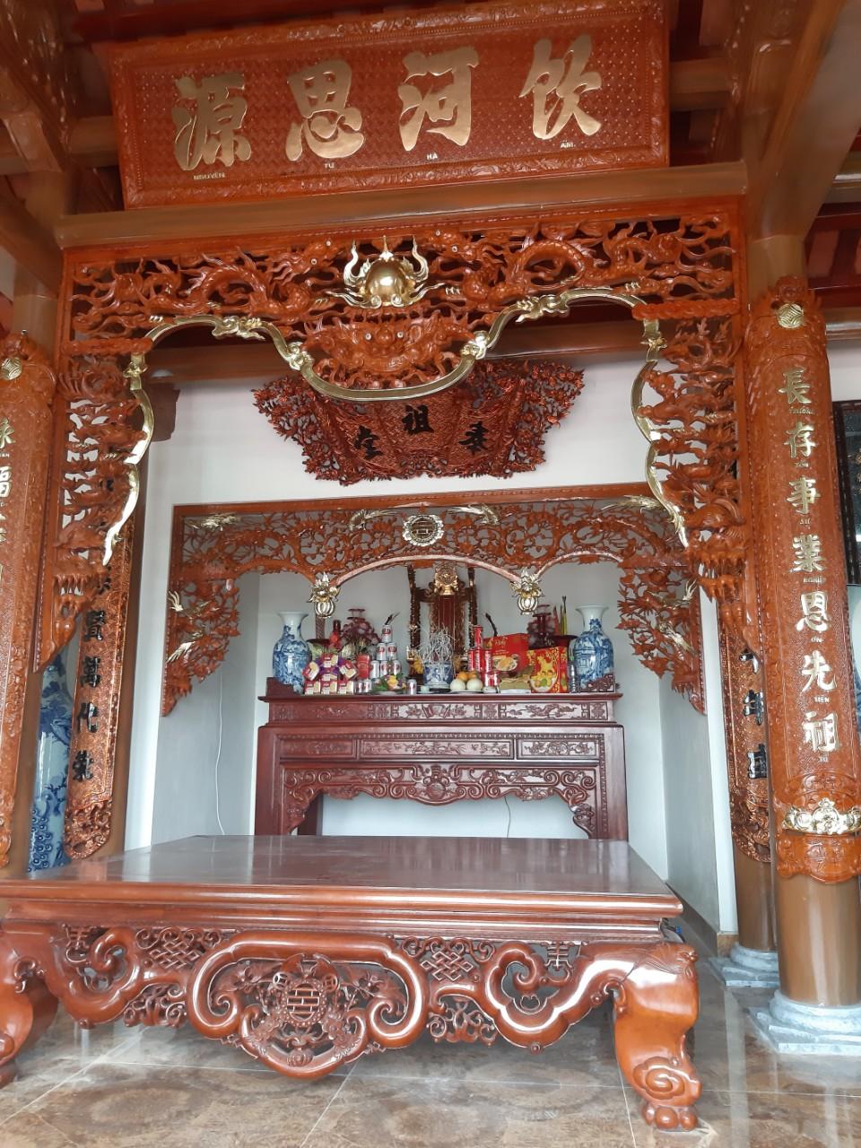 Công trình thi công cửa võng,bàn thờ tại Thủy Nguyên Hải Phòng