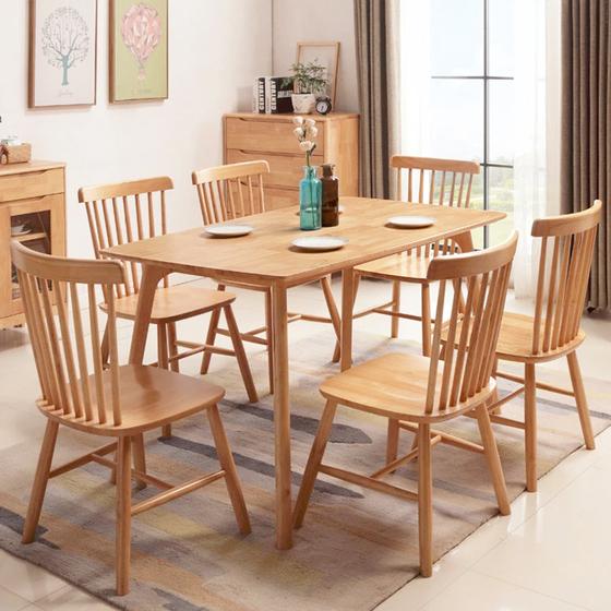 Bàn ghế ăn gỗ tự nhiên HP62