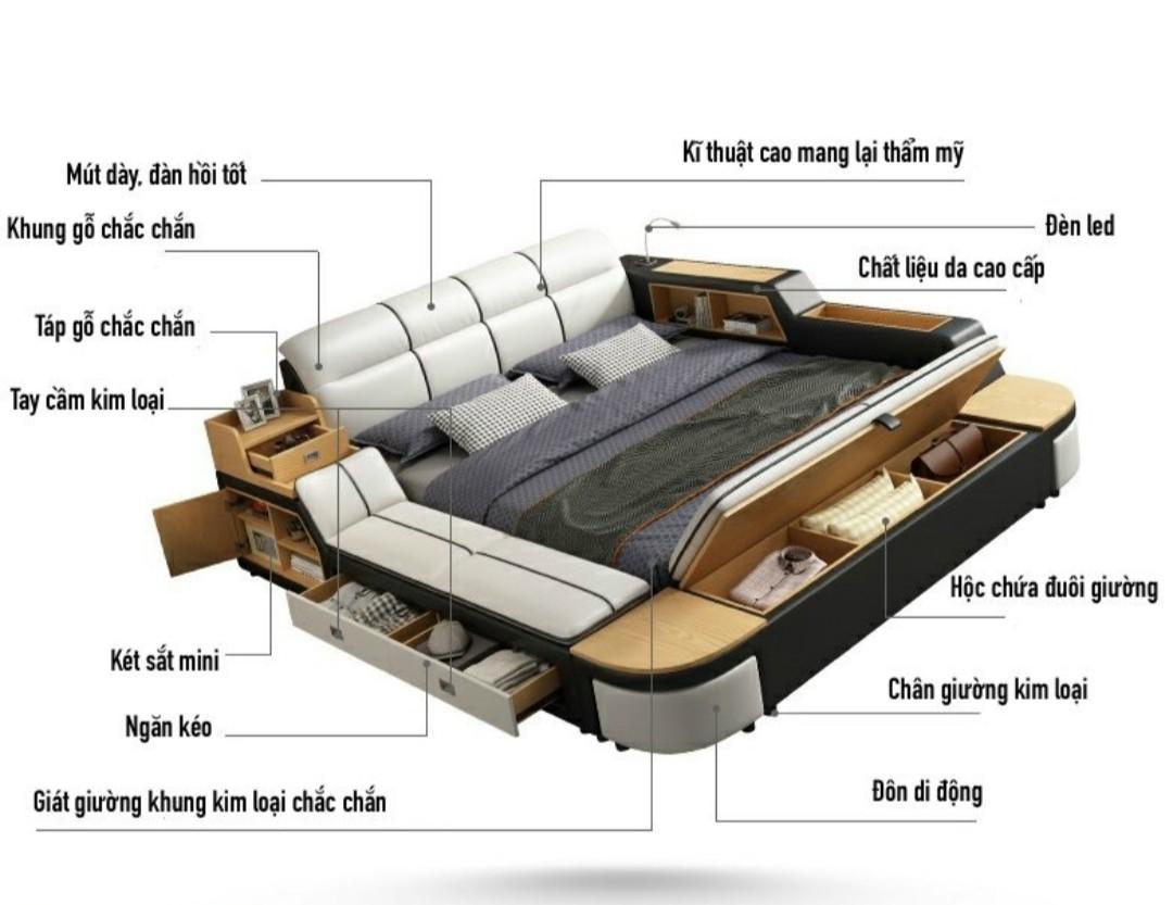 Giường ngủ thông minh HP145