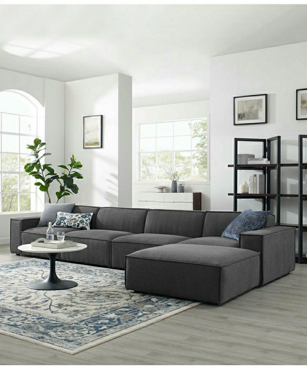 Ghế sofa góc mẫu hiện đại HP654