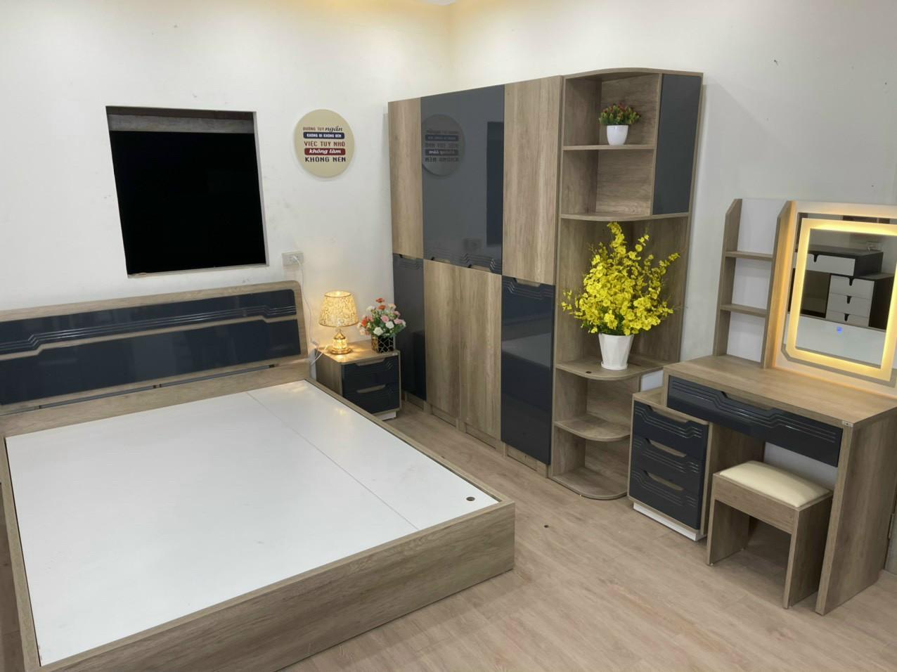 Bộ phòng ngủ mẫu hiện đại HP456