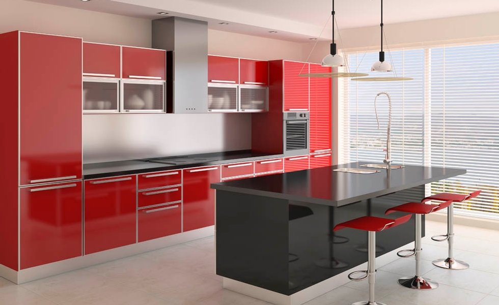 Tủ bếp mẫu hiện đại HP545